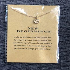 New Beginnings 14k gold dipped lotus flower